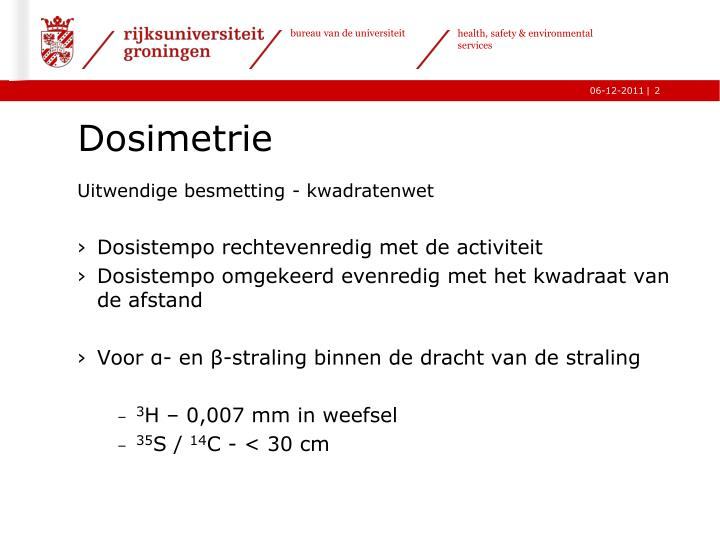 Dosimetrie