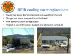hfir cooling tower replacement
