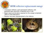hfir reflector replacement outage