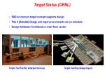 target status ornl