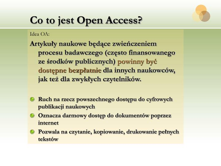 Co to jest open access