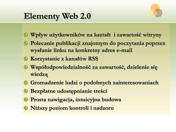 Elementy Web 2.0