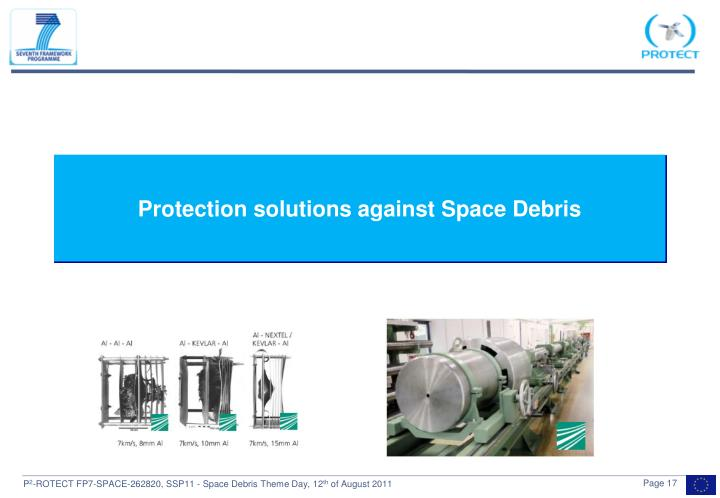 Protection solutions against Space Debris