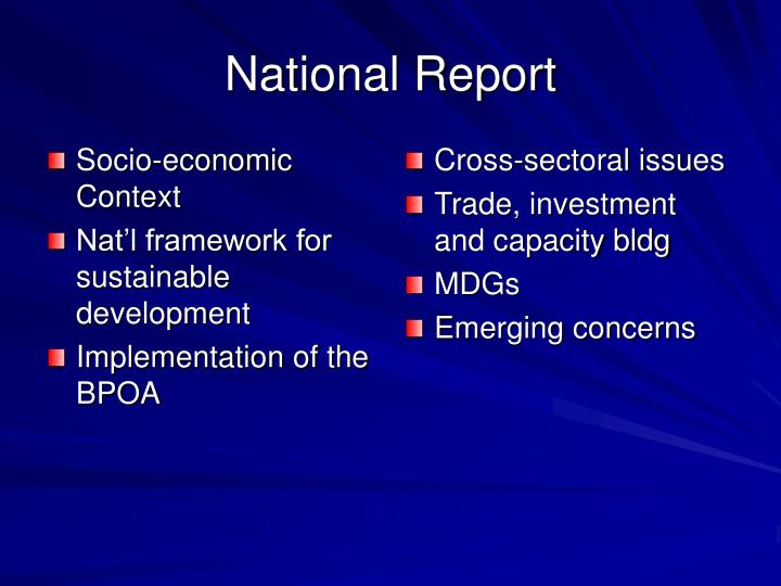 Socio-economic Context