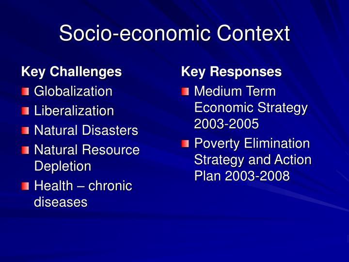 Socio economic context