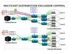 multicast distribution exclusion control
