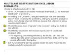 multicast distribution exclusion signaling2
