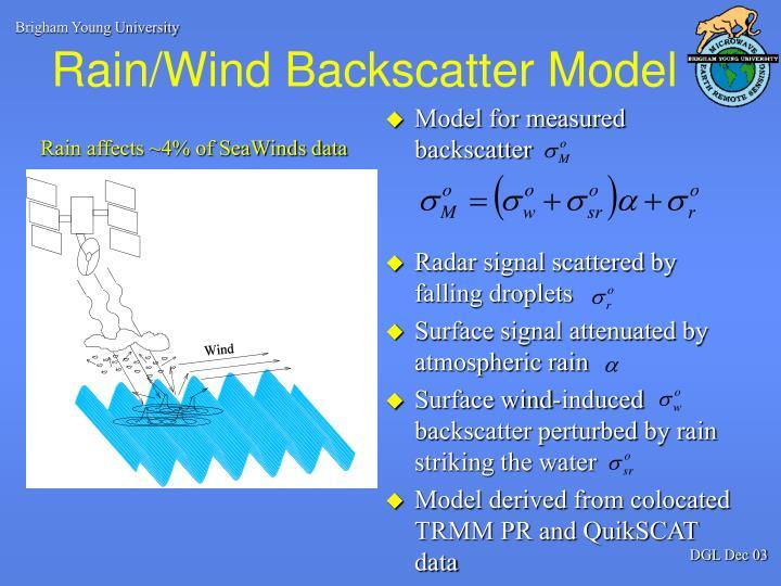 Rain wind backscatter model