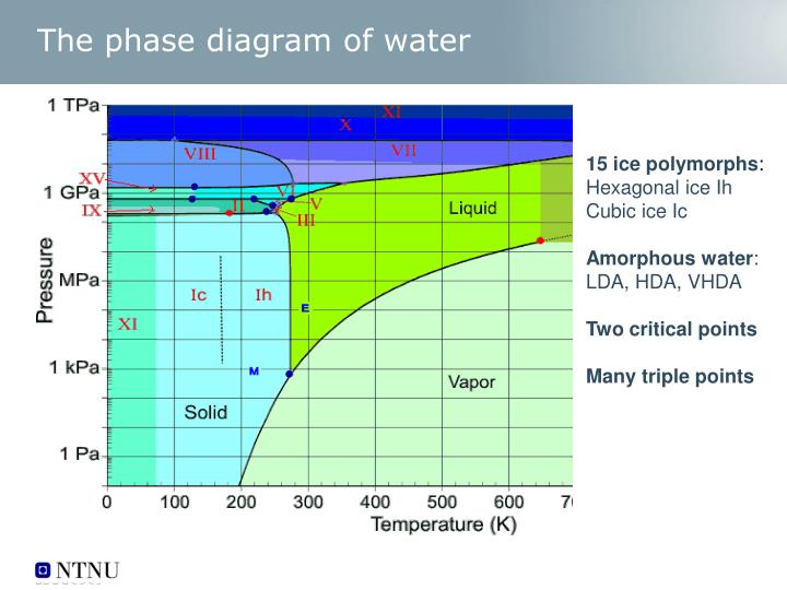The phase diagram of water