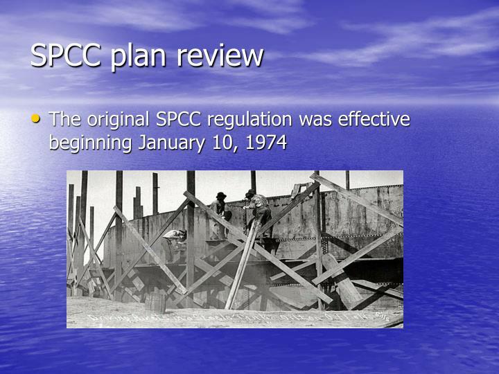SPCC plan review