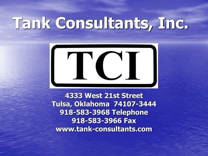 Tank consultants inc