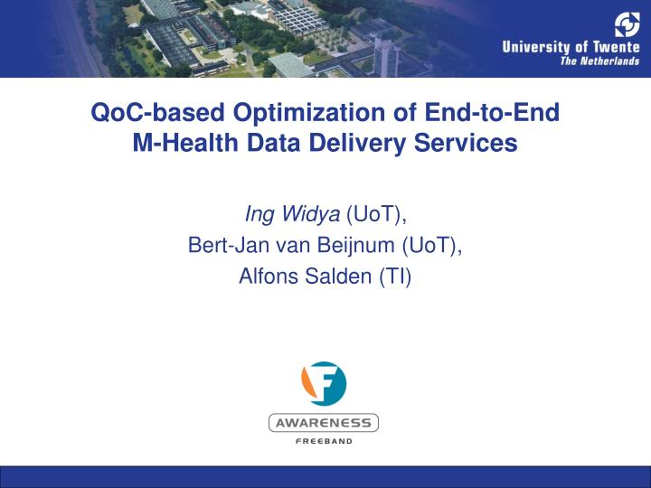qoc based optimization of end to end m health data delivery services n.