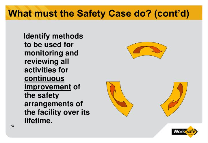 What must the Safety Case do? (cont'd)