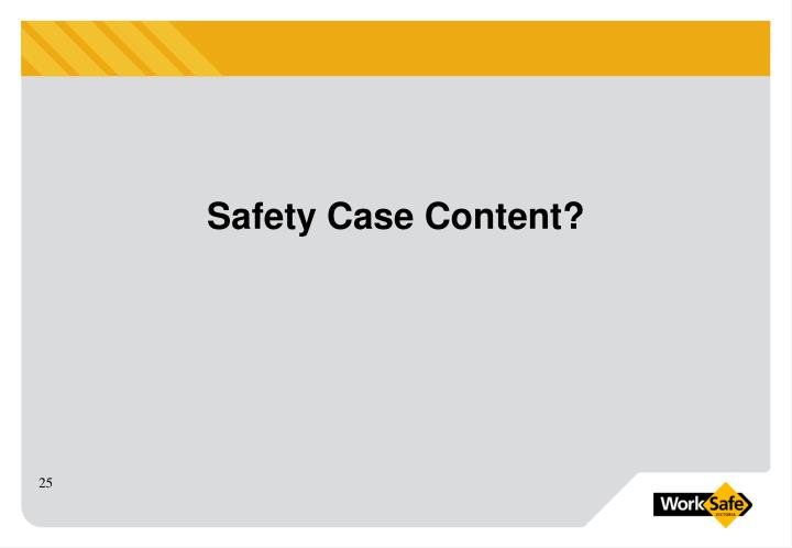 Safety Case Content?