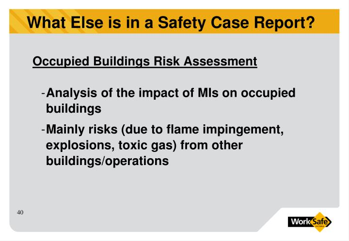 Occupied Buildings Risk Assessment
