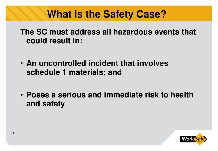 The SC must address all hazardous events that could result in: