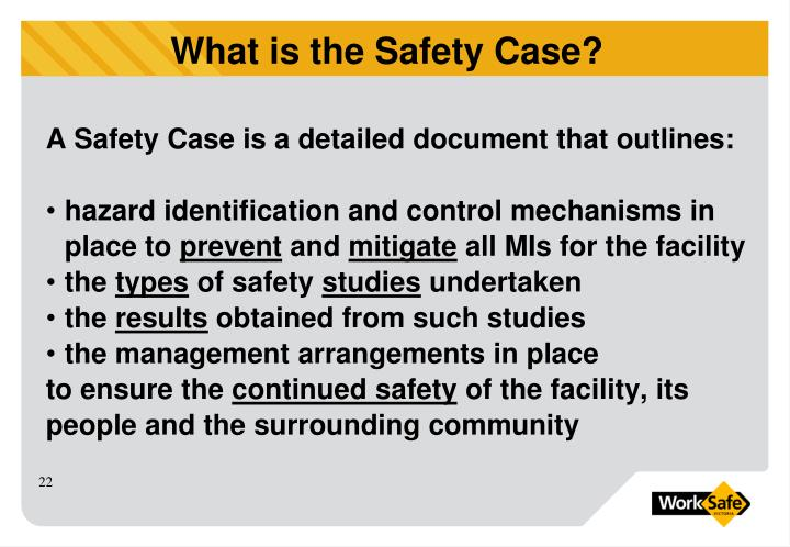 A Safety Case is a detailed document that outlines: