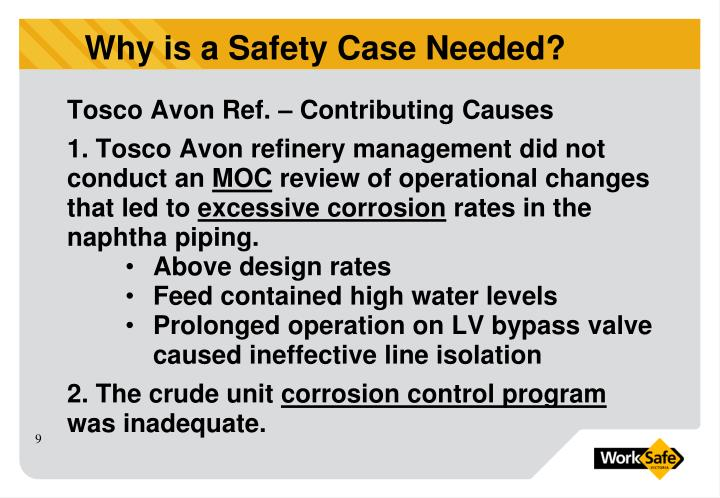 Tosco Avon Ref. – Contributing Causes
