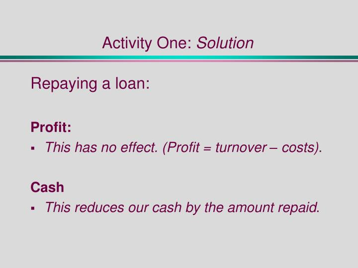 Activity one solution