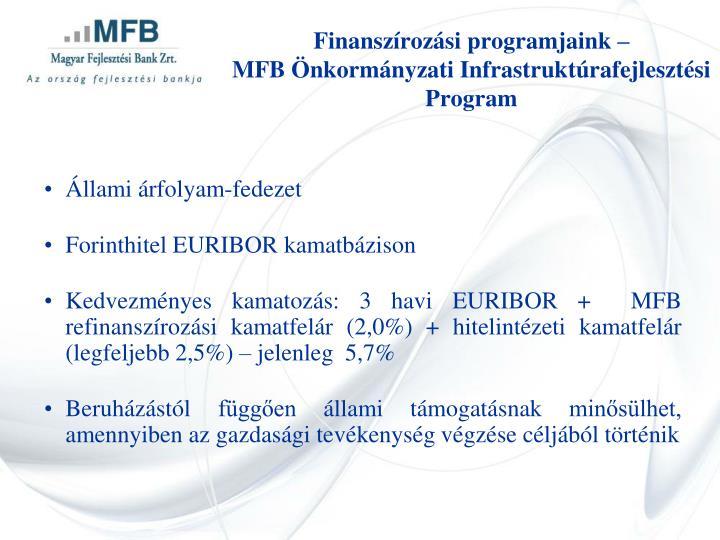 Finanszírozási programjaink –