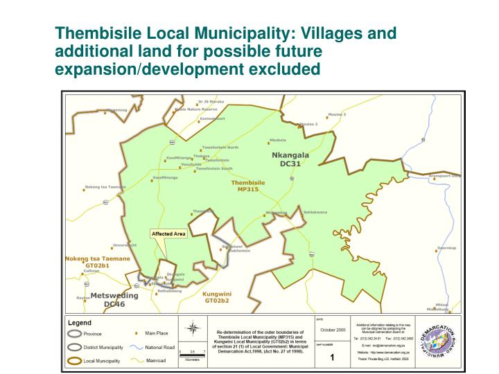 Thembisile Local Municipality: Villages and