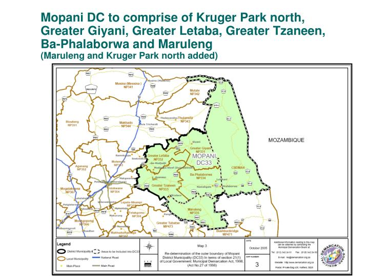 Mopani DC to comprise of Kruger Park north,
