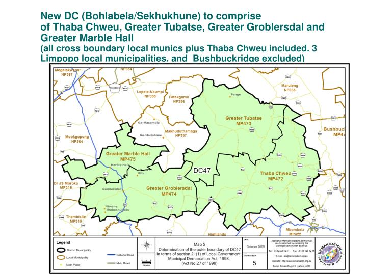 New DC (Bohlabela/Sekhukhune) to comprise