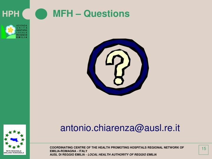 MFH – Questions