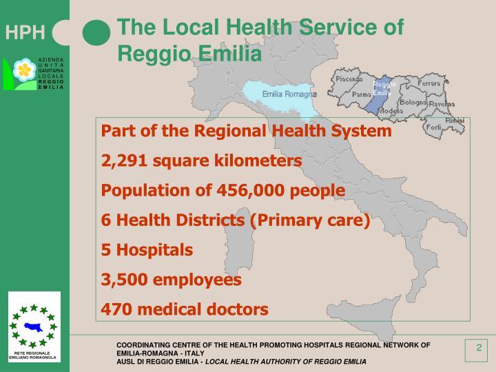 The local health service of reggio emilia