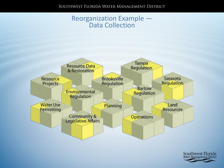 Reorganization Example —Data Collection