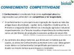 conhecimento competitividade