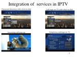 integration of services in iptv