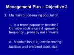 management plan objective 3