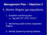 management plan objective 5