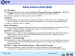 safety advisory group sag