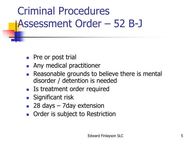 Criminal Procedures