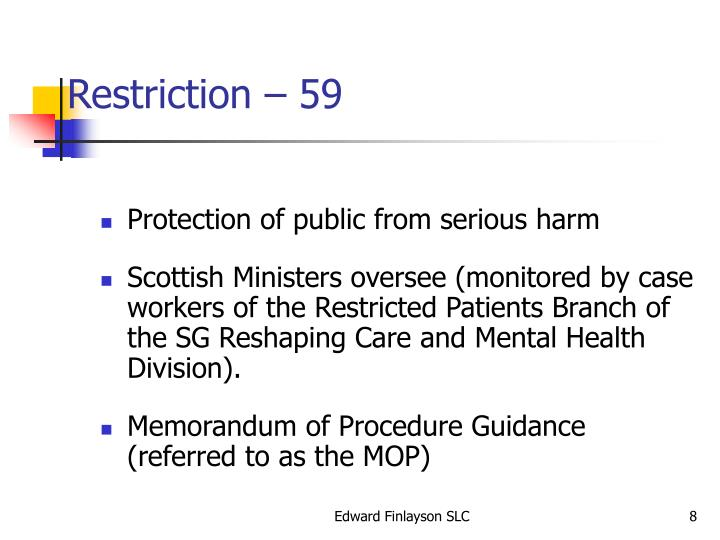 Restriction – 59