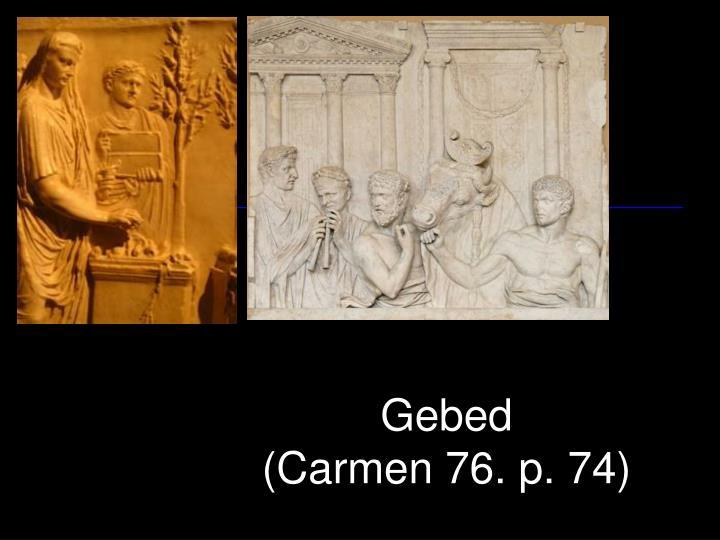 Gebed carmen 76 p 74