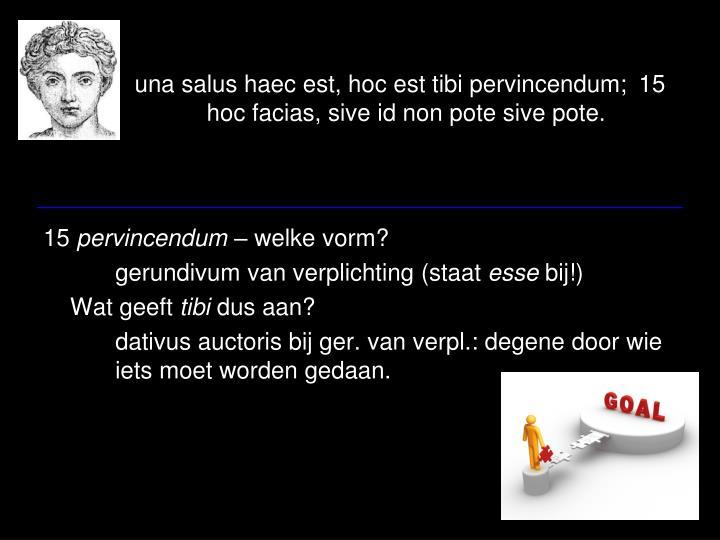 una salus haec est, hoc est tibi pervincendum;15