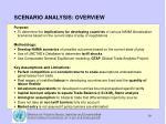 scenario analysis overview