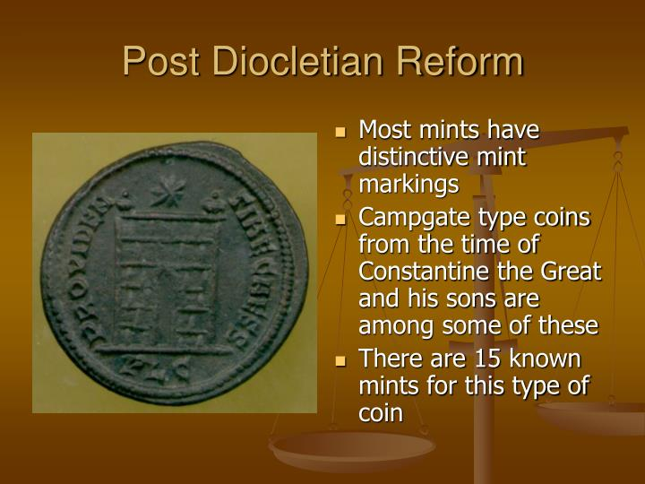 Post Diocletian Reform