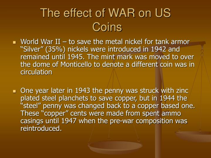 The effect of WAR on US