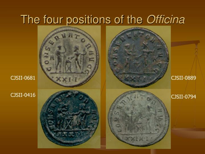 The four positions of the