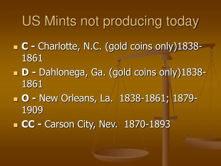 US Mints not producing today