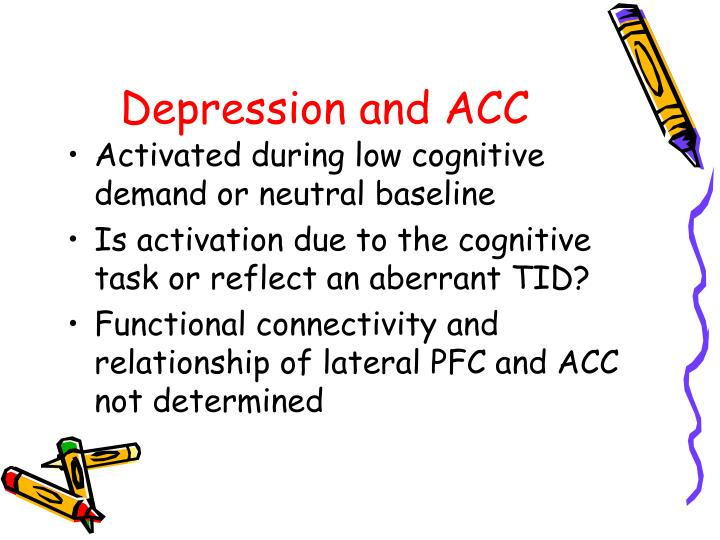 Depression and ACC