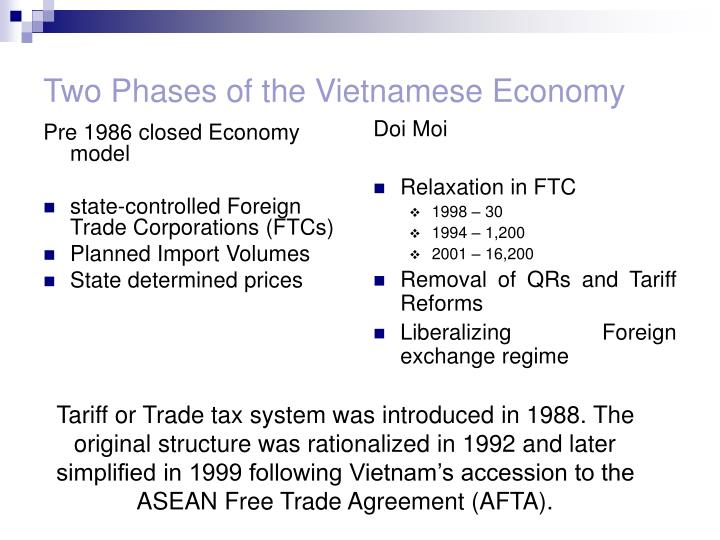 Two phases of the vietnamese economy