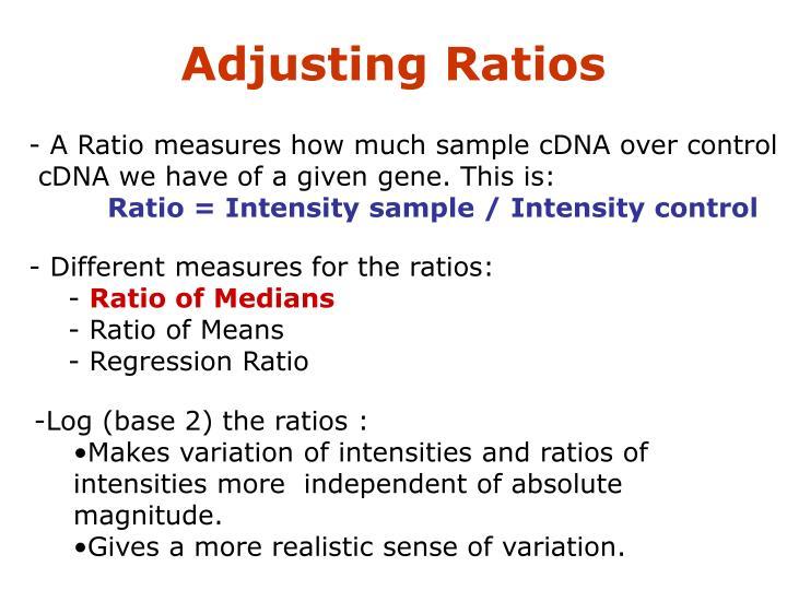 Adjusting Ratios