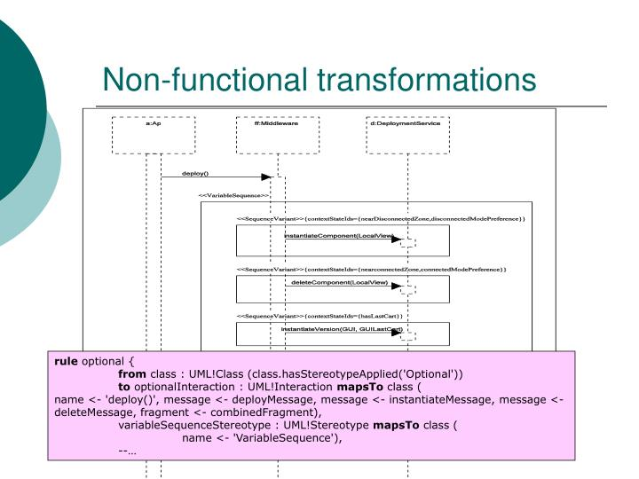 Non-functional transformations