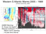 western s atlantic warms 2005 1989 johnson and doney 2006
