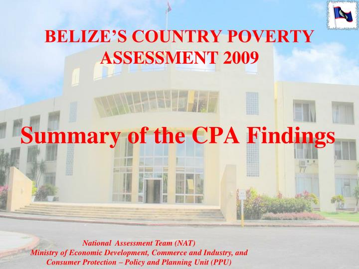 Belize s country poverty assessment 2009